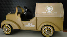 Ford Army Truck Pedal Car WW2  U S Military Medical Ambulance Vintage Model