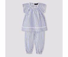 Victoria Beckham for Target Baby Blue Stripe Poplin Capri/Top Set NWT NEWBORN