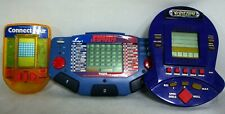 Lot of 3 Vintage Electronic Handheld Games Connect Four Yahtzee Jackpot Jeopardy