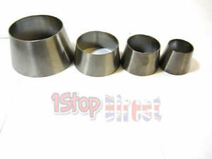 """STAINLESS STEEL 2.5"""" TO 3""""  EXHAUST CONE REDUCER CONNECTOR JOINER POLISHED 316"""