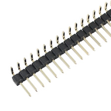 20pcs 254mm Pitch 1x40 Pin 40 Pin Single Row Right Angle Male Pin Header Strip