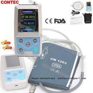 ABPM50 24 hour Ambulatory Blood Pressure Monitor ABPM Holter BP,pc software,FDA