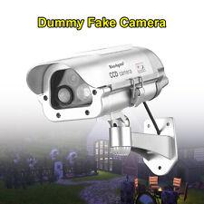 Solar Power Fake Dummy Security CCTV Camera Human Detection Flashing LED Lights