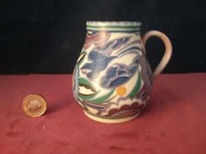 Vintage Poole Pottery Truda Adam Full  Blue Bird  PB Pattern Jug Gwen Dry 1930's