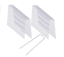 """6"""" Landscape SOD Staples Galvanized Garden Stakes Weed Barrier Pins (50 pcs)"""