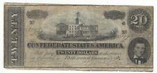 CONFEDERATE TWENTY DOLLAR BILL 1864