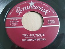 """LENNON SISTERS - Young And In Love / Teen Age Waltz 1957 POP Brunswick 7"""""""