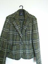 Per Una green tweed part wool jacket size 12