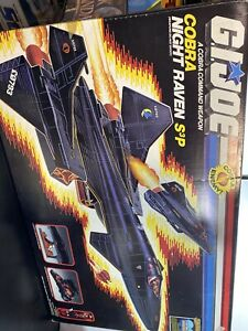 Vintage 1986 GI Joe Cobra Night Raven Plane Hasbro Vehicle W/ Box Near Complete
