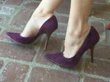*PuRpLe sUeDe Sz 8.5 Leather Pointy Toe CARRIE Stilettos Heels PUMP GuESS
