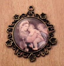 1/12 miniature maison poupées, Mères Love PLAQUE MUR Cameo photo salon BN LGW