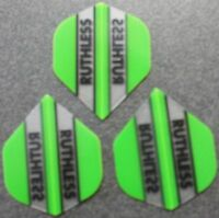 5 Packets of Brand New Ruthless Extra Strong Darts Flights - Green
