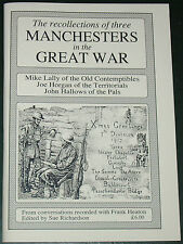 MANCHESTER REGIMENT WW1 First World War Battalions British Army Soldiers History