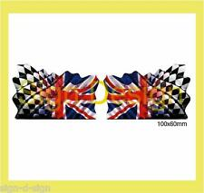 GRUNGE PRINTED UNION JACK RACING FLAG STICKERS GRAPHICS DECALS