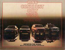 Dodge Colt Vista Conquest Ram 50 1986 USA Market Sales Brochure Mitsubishi