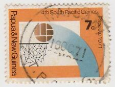 (PNG139) 1971 PNG 7c Basket Ball Multicolour ow200