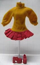 BARBIE DOLL SCOOBY DOO VELMA fits TEEN SKIPPER DRESS/RED CHUNKY MARY JANE SHOES