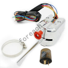 Chrome Universal Street Hot Rod Turn Signal Switch For FORD BUICK GM W/ Flasher