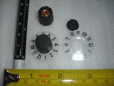 1-12 Numbered dial knob Sound city amplifier black cap amp control smooth shaft