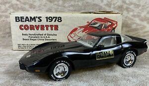 **********1978 Jim Beam Black Corvette Whiskey Decanter EMPTY Barware **********