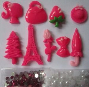 NEW Mixture Flatback Pendants For Scrapbooking Phone Hair Bow Crafting