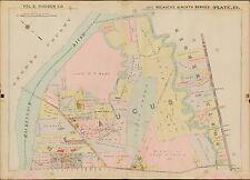1909 NORTH BERGEN, SECAUCUS, HUDSON COUNTY, NEW JERSEY, COPY PLAT ATLAS MAP