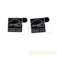 5pcs Energy Star Sticker Case Badge Logo Label  Black 14.5 x 15.5mm Black ST012