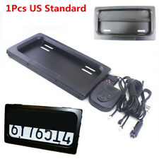 1x Hide-Away Shutter Cover Up Electric Stealth USA License Plate Frame w/ Remote