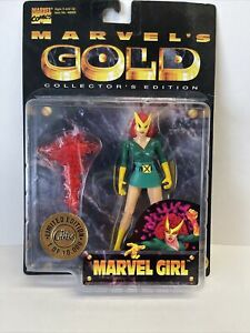 Marvel's Gold Collector's Edition Marvel Girl - New Rare Toy Biz 1997 /10000