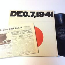 New York Times presents Dec. 7, 1941 LP with replica Newspaper- Gatefold Cover