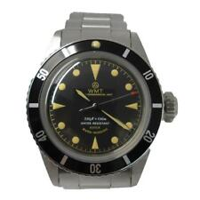 Walter Mitt Sea Diver Steel Automatic Black Vintage Bracelet Men's Watch