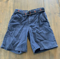 Janie & Jack Boy's Toddler Navy Blue Shorts with Belt Adjustable Waist Size: 4T