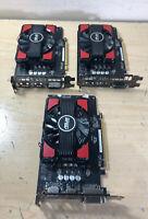 Lot of 3 ASUS Radeon RX 550 4G GDDR5 DP HDMI DVI AMD Graphics Card (RX550-4G)