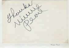Minnie Pearl, Singer Actress Signed Autographed Index Card, Melchior Collection