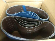 """Blue Zirconia 8"""" x 29.5"""" 40 Grit Floor Sanding Belts - Hummel Lagler (Box of 10)"""
