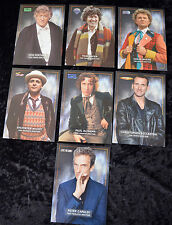 Doctor Who Art Card x 7 Doctors - RARE Collection - Large Format - DWM - UNUSED