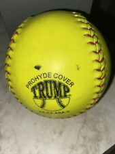 Trump Stote Softballs Asa Certified Yellow Slow Pitch League Pre Owned Game Used