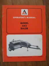 Allis Chalmers 442 Baler operators manual