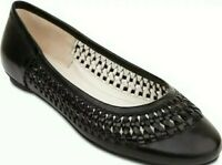 "SANDLER LADIES BLACK ""PRINGLE"" FLAT LEATHER SHOES SIZE 6B. BNWOT"