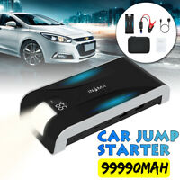 99990mAh Car Jump Starter Pack Booster LCD 4 USB Charger Battery Power Bank