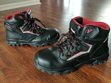 Men's Craftsman Black Red Steel Toe Work Boot Slip Resistant Cushoned 7.5 M