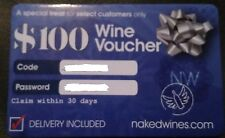 $100 Wine Voucher Card Nakedwines.com - Delivery Included - Free Ship