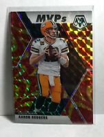 2020 Panini Mosaic Aaron Rodgers MVP's Orange Reactive Prizm Green Bay Packers