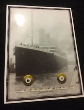 COAL & WOOD, genuine pieces, relics from the RMS TITANIC.............FRAME READY