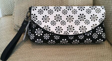 NWT DISNEY PARKS MICKEY MOUSE WRISTLET LARGE CLUTCH BLACK WHITE DOTS HTF