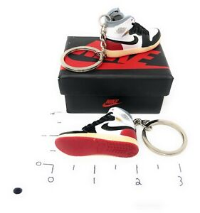 Hand Painted Retro OG Pair of 3D Mini Shoe Keychains High Union Los Angeles