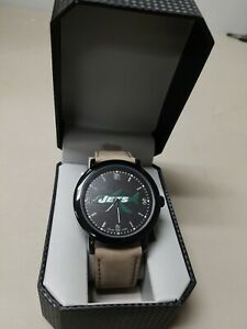 New York Jets Game Time Mens Quartz Metal and Leather Watch NEW FREE SHIP