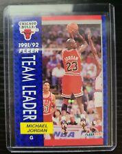 1992 fleer michael jordan team leader