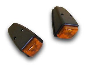 2 x ORANGE SIDE MARKER ROOF LAMP CORNER 12/24V TRUCK IVECO MAN DAF SCANIA ISUZU