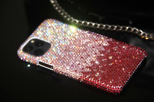 Bling Gradient Pink Diamond Case Fo iPhone 12 13 Pro Max With SWAROVSKI ELEMENTS